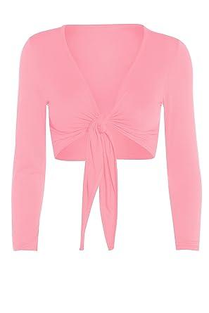 bfcee6d2bd63 Amazon.com  GUBA Ladies Tie Knot Shrug Short Crop Cardigan Wrap ...