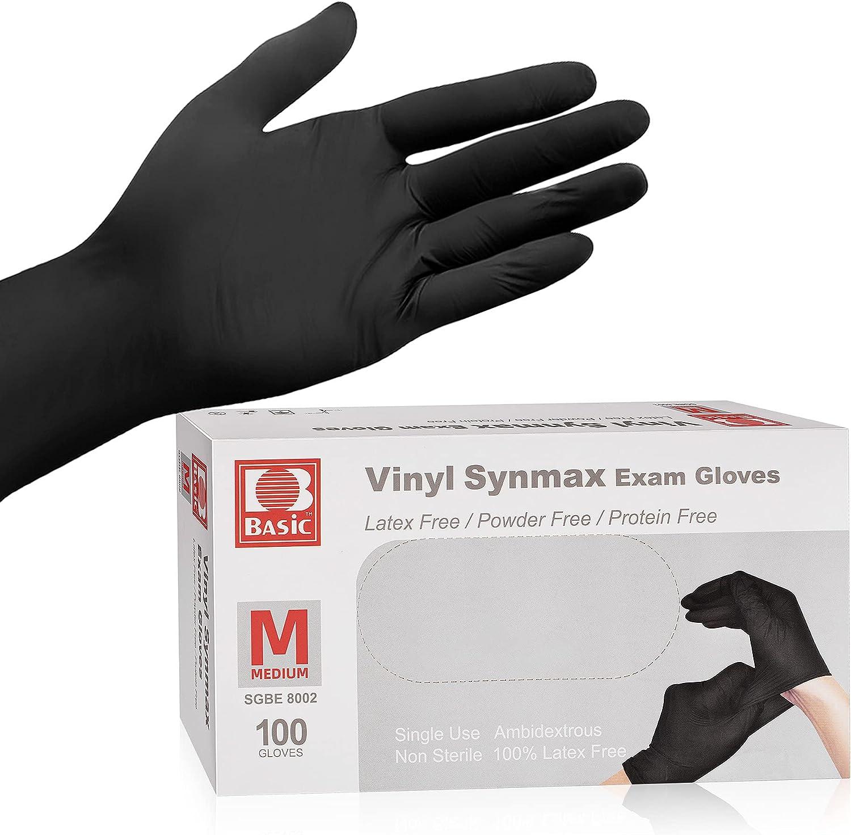 Disposable Medical Vinyl Exam Gloves Industrial Gloves - Latex-Free & Powder-Free 100PCS