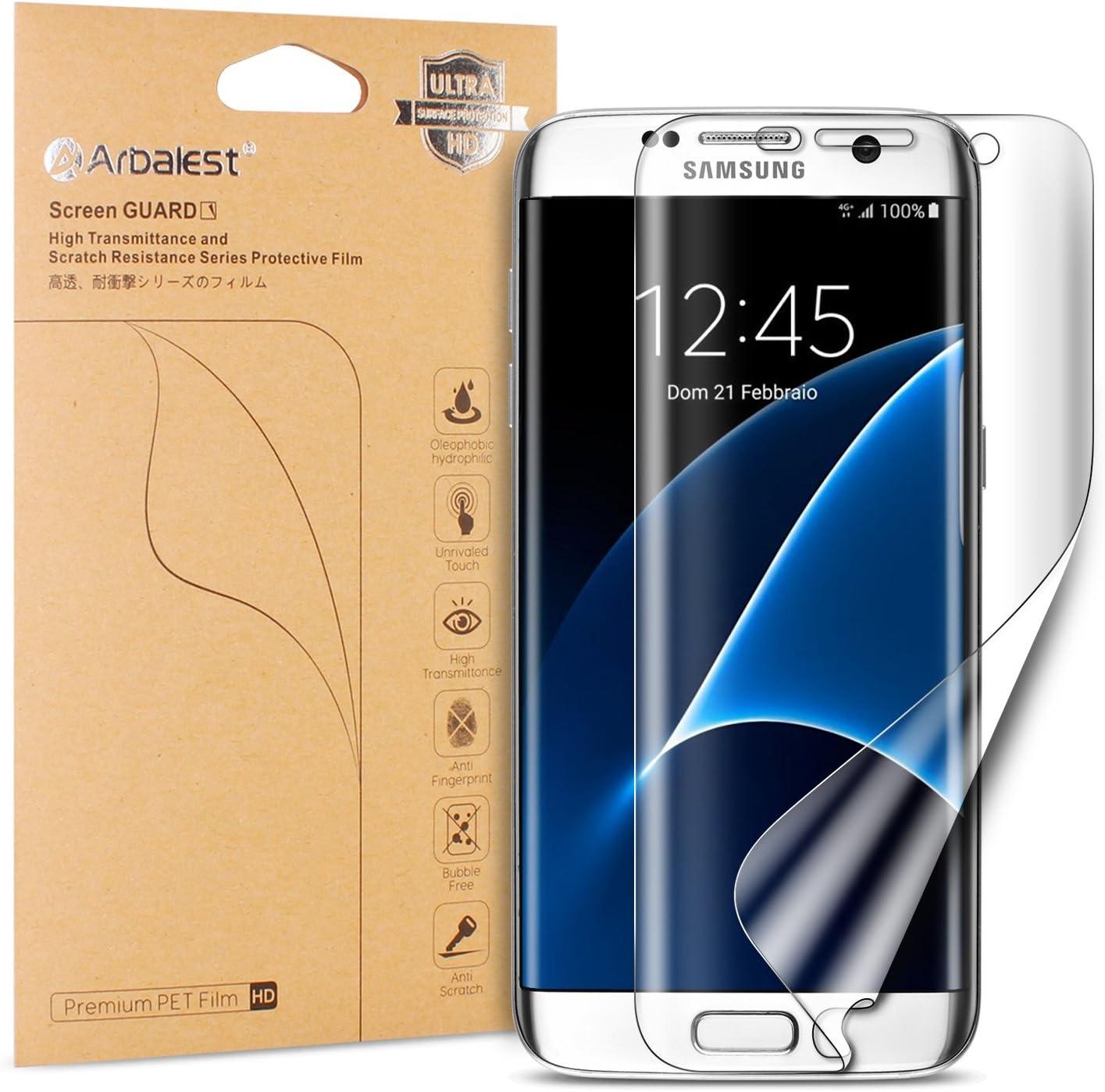 Arbalest Protector de Pantalla para Galaxy S7 Edge, [Cobertura Complete] Soft Tough TPU Ultra HD Protector de Pantalla para Samsung Galaxy S7 Edge: Amazon.es: Electrónica
