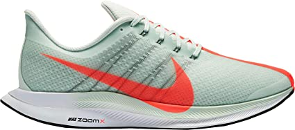 NIKE Mens Air Zoom Pegasus 35 Turbo Running Shoes,(Grey/Red/Orange