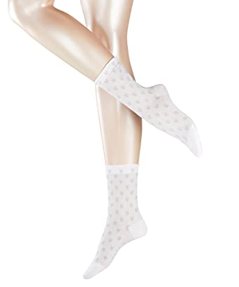 df7a54d6bfe83 Esprit Filet Flower, Chaussettes Femme, Multicolore (White 2000), 35 ...