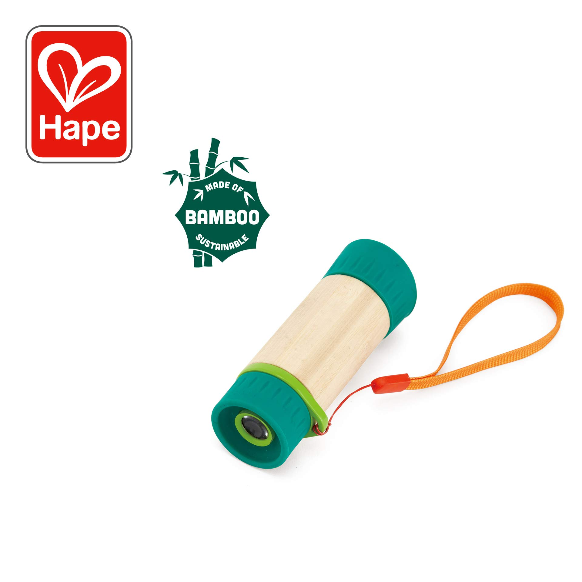 Hape Adjustable Telescope| Bamboo Spy Gear for Kids with 8X Magnification by Hape