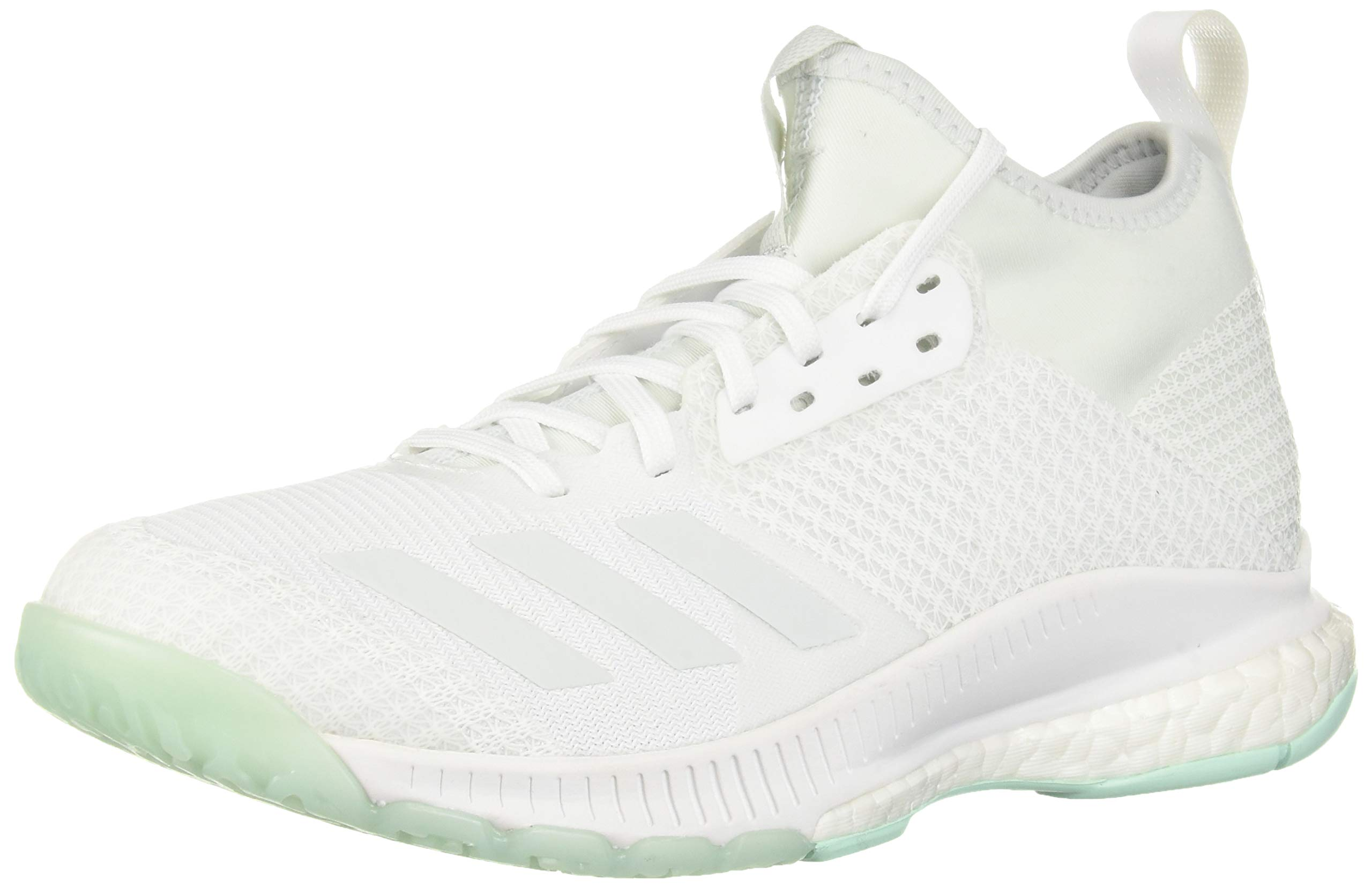 adidas Women's Crazyflight X 2 Mid Volleyball Shoe, White/Blue Tint/Clear Mint, 12 M US by adidas