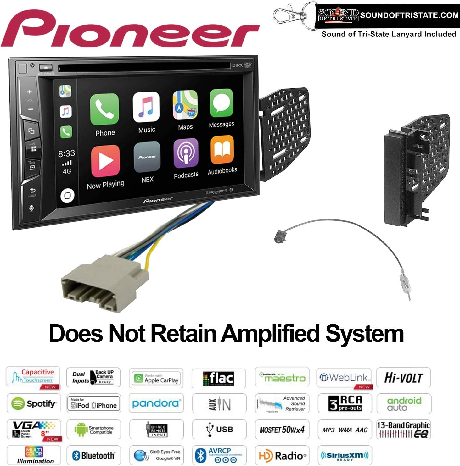 FOR 05-11 TOYOTA TACOMA PIONEER TOUCHSCREEN BLUETOOTH USB AUX RADIO STEREO PKG
