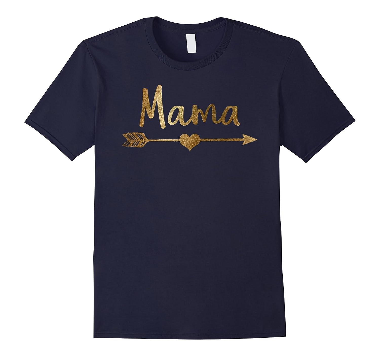 Gold Glitter Arrow Heart Shirt Mama Shirt-FL