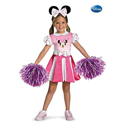 Minnie Mouse Cheerleader Costume-Small (4/6x): Toys & Games