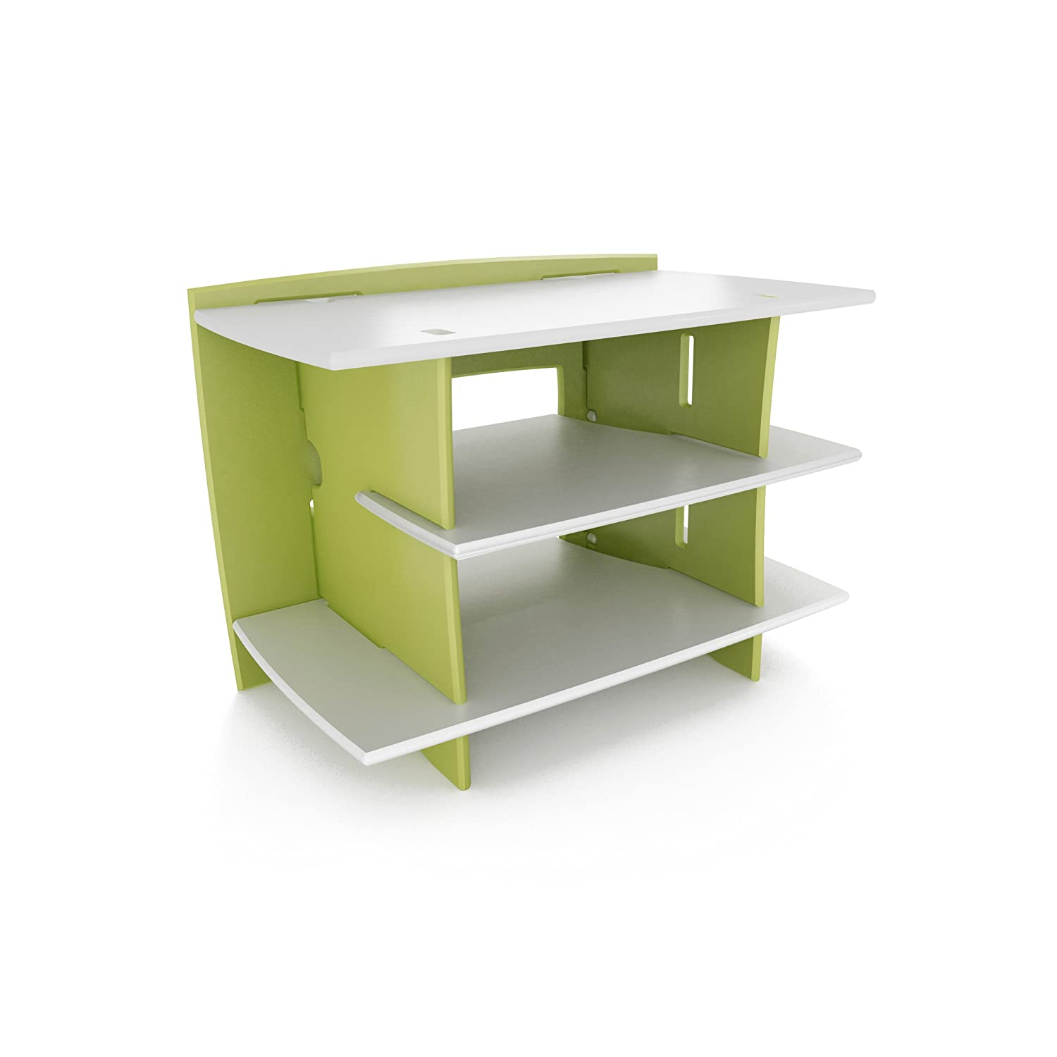 Amazon.com: Legaré Kids Furniture Frog Series Collection, No Tools Assembly  Gaming Center Stand, Lime Green And White: Kitchen U0026 Dining