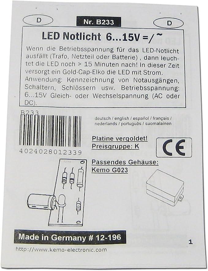 LED-Notlicht  //// LED leuchtet ca 15 Minuten nach