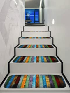 Stair Pad Stair Treads Rectangle Non Slip Carpet Stair Mats Rugs Pads Treads  Colorful Wooden