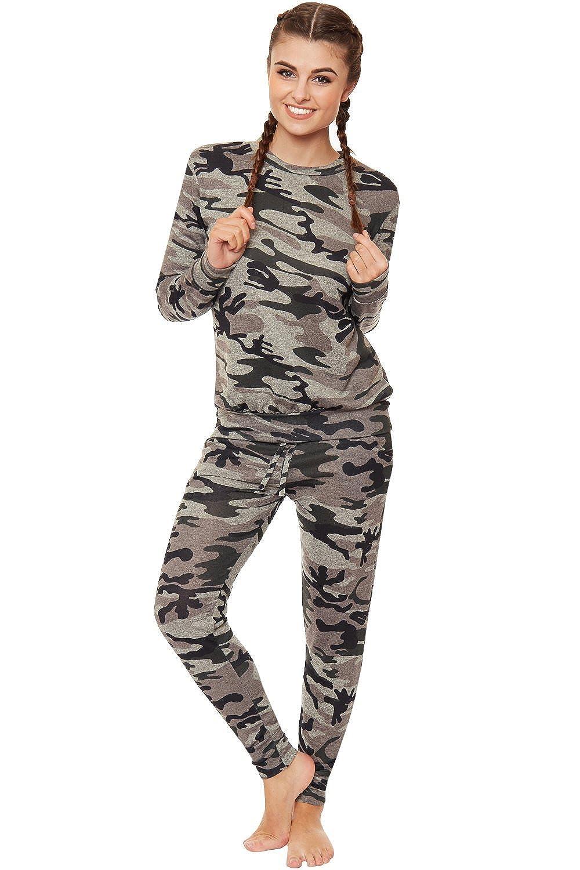 WearAll - Mujeres Tramo Ejército Camuflaje Impresión Jogging Traje ...