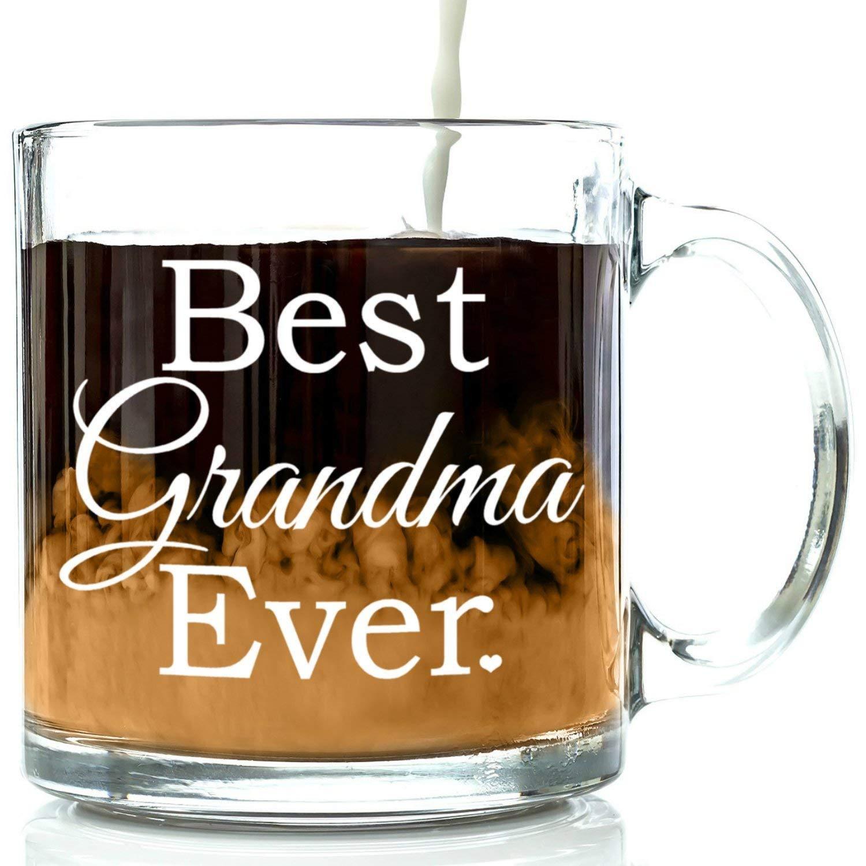Amazon.com: Best Grandma Ever Glass Coffee Mug 13 oz - Top Christmas ...