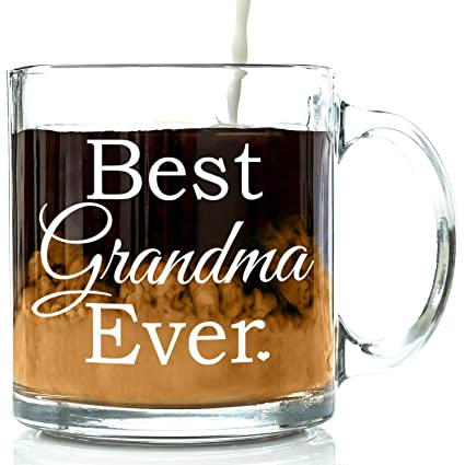 best grandma ever glass coffee mug 13 oz top christmas gifts for grandma unique - Unique Christmas Presents