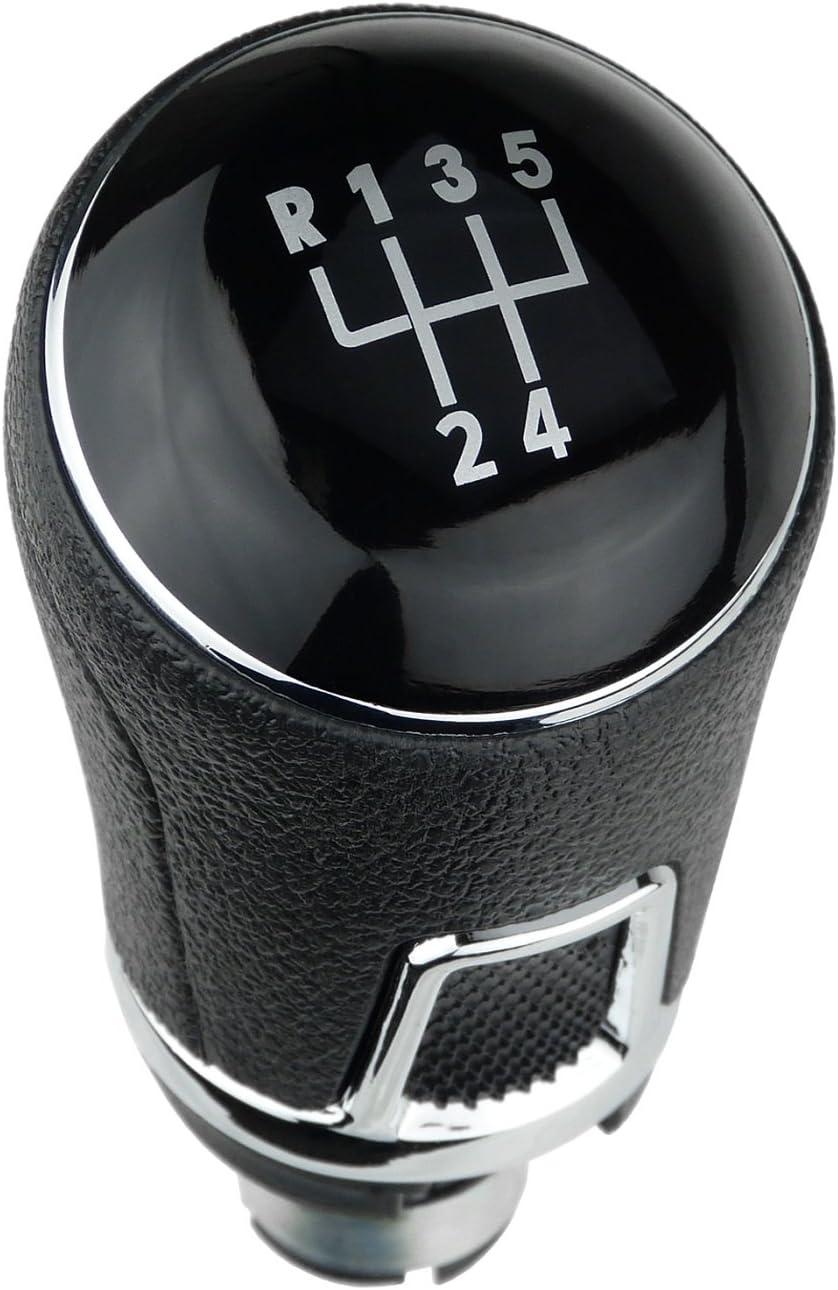 L P A268 4 Schalthebel Hebel Schaltknauf Schwarz 5 Gang 12mm Kompatibel Mit Vw Golf 2 3 5 6 7 Passat 3b B5 3c B6 B7 Vw Polo 6n 9n 6r Pu Knauf Schaltknopf