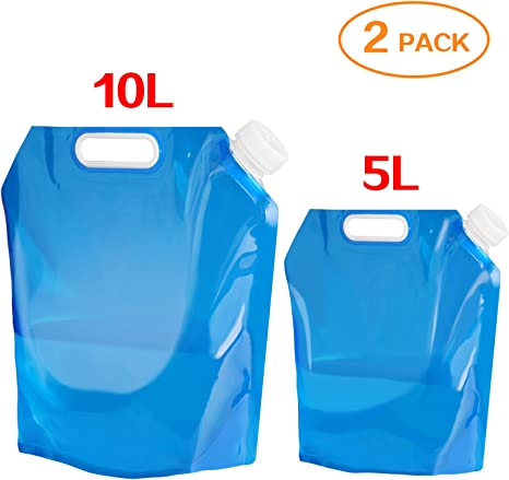 EXTRA LARGE 10L Folding Water Bag//Carrier//Container Camping//Caravan//Festival