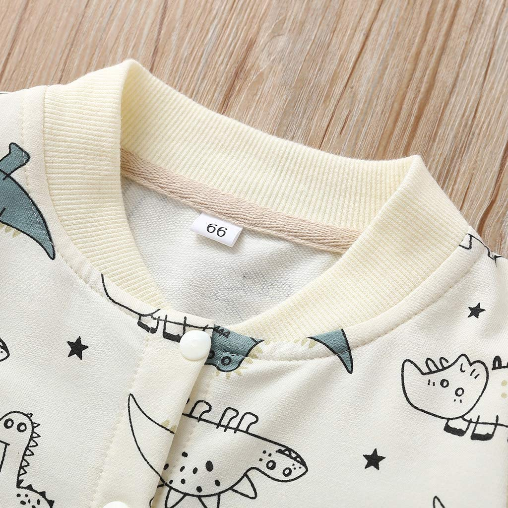 Y56 0-18M Newborn Infant Baby Girl Boy Cartoon Dinosaur Romper Jumpsuit Playsuit Outfits