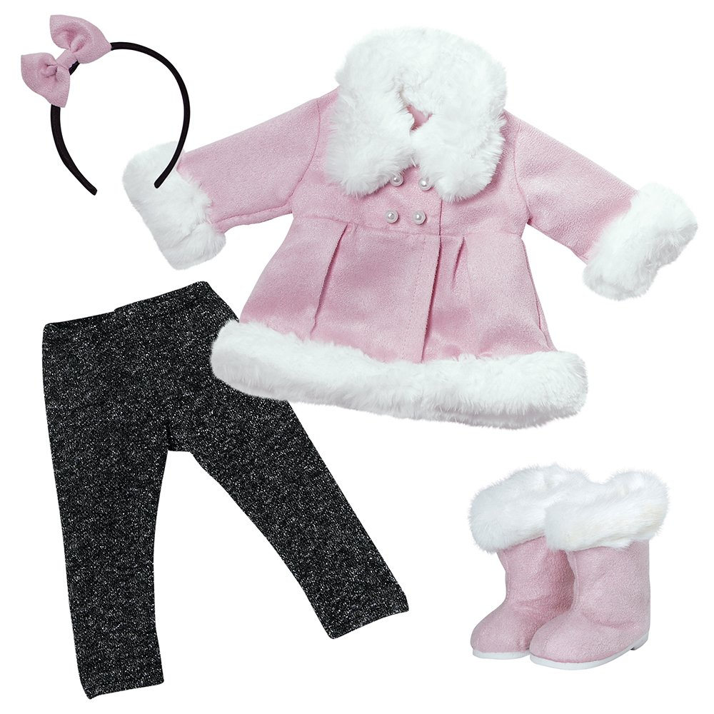Adora Amazing Girls 18 Doll Clothes - Stylish Pink Snowy Winter Outfit with Pink Coat, Leggings, Boots, Headband (Amazon Exclusive) Charisma 217712