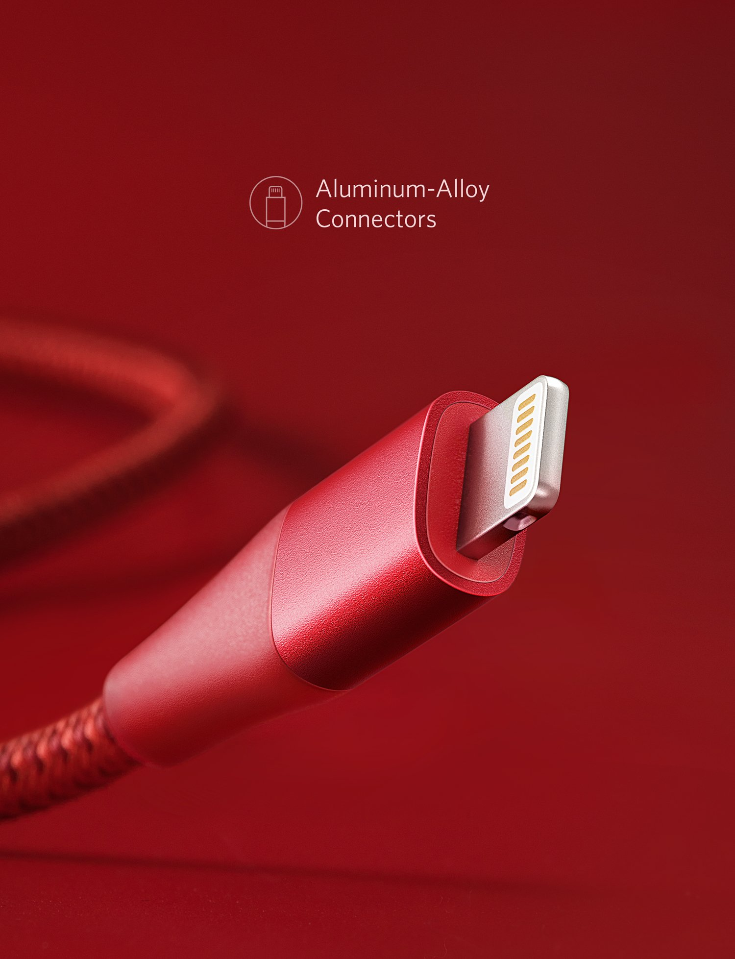 Anker Powerline+ II Lightning Cable (10ft), MFi Certified for Flawless Compatibility with iPhone X / 8/8 Plus / 7/7 Plus / 6/6 Plus / 5 / 5S and More(Red) by Anker (Image #5)
