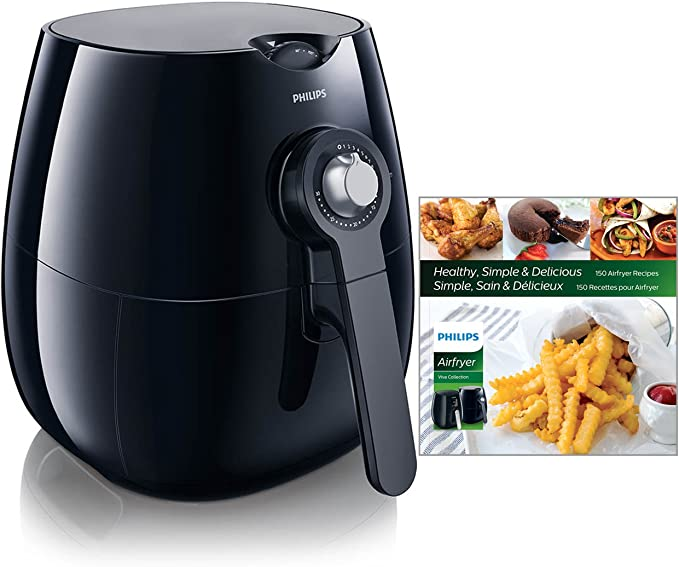 Amazon.com: Philips Analog Airfryer, Viva Collection Fry Healthy with 75% Less Fat, Black, HD9220/28: Kitchen & Dining