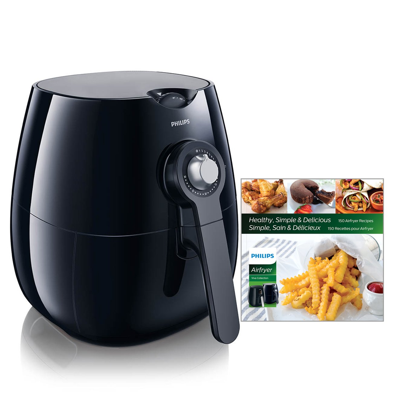 Philips HD9220/28 Viva Airfryer (1.8lb/2.75qt), Black Fryer