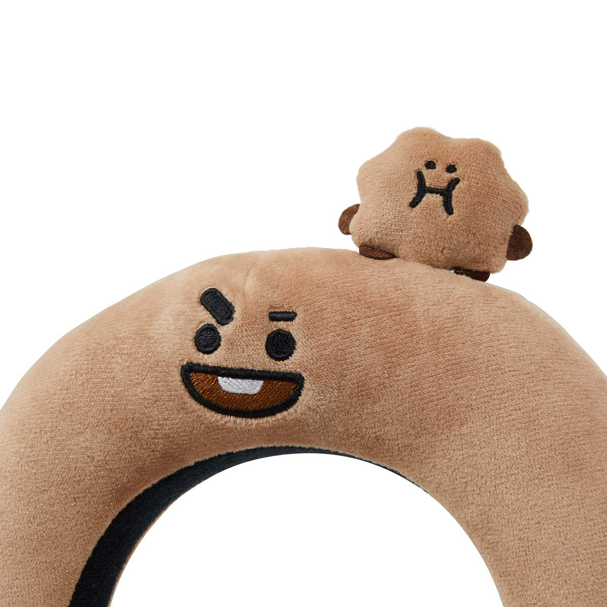 COOKY Character Face Plush Padded Headbands BT21 Official Merchandise by Line Friends