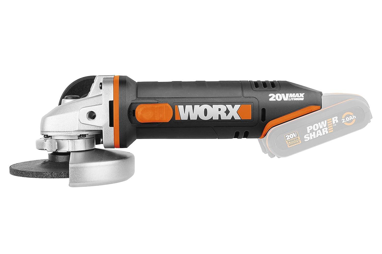 WORX WX800.9 18V Cordless Angle Grinder-Body ONLY 20V Max