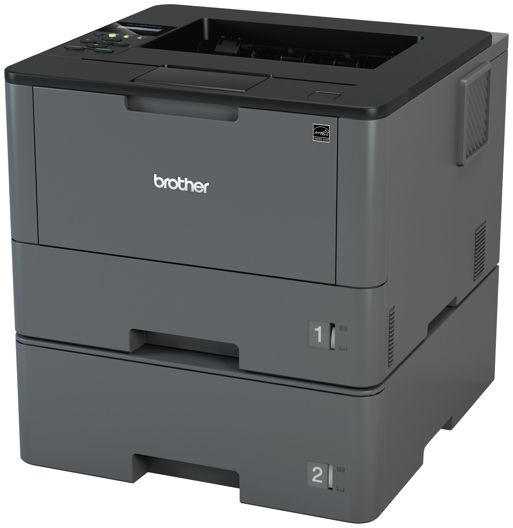 Brother HLL5200DWT Business Laser Printer with Wireless Networking, Duplex and Dual Paper Trays, Amazon Dash Replenishment Enabled by Brother (Image #2)