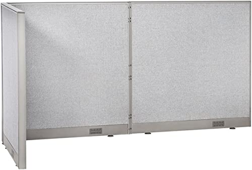 GOF Freestanding L Shaped Office Partition, Large Fabric Room Divider Panel, 36 D x 96 W x 48 H