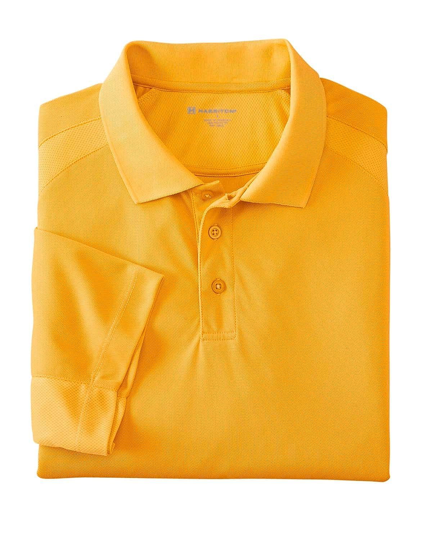 Polytech Mesh Insert Polo Harriton Mens 3.8 oz XL GOLD