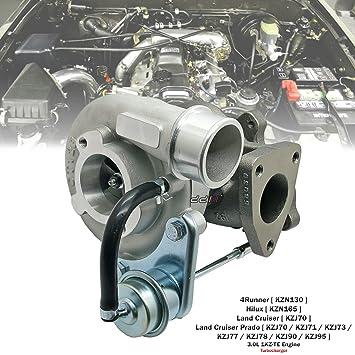 Cargador Turbo CT12B 17201-67010 para Toyota Land Cruiser Hilux Surf Prado 1KZ-TE: Amazon.es: Coche y moto