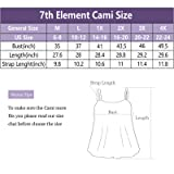 7th Element Womens Plus Size Cami Basic Camisole