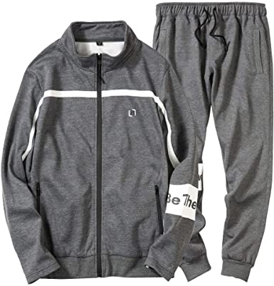 chándal Completo para Hombre, Moda cómodo Traje Deportivo Casual para Hombre Manga Larga Ropa Deportiva para Hombre Abrigo Sudadera y Pantalones Conjuntos Chandal: Amazon.es: Ropa y accesorios