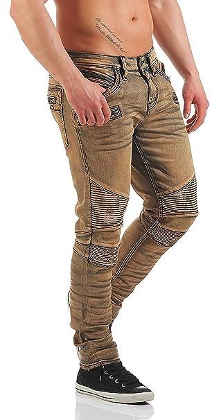 Rock Revival Pantalones Vaqueros De Hombre Moto ELLIOT S203 ...