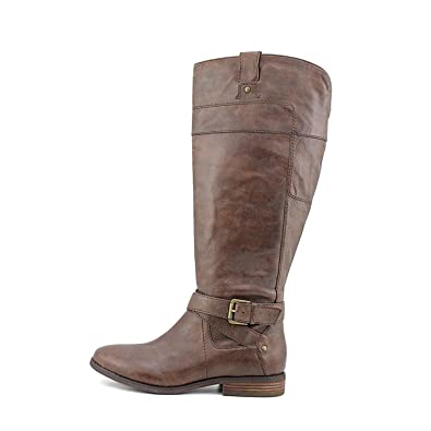 Womens Arty Leather Almond Toe Mid-Calf Fashion Boots