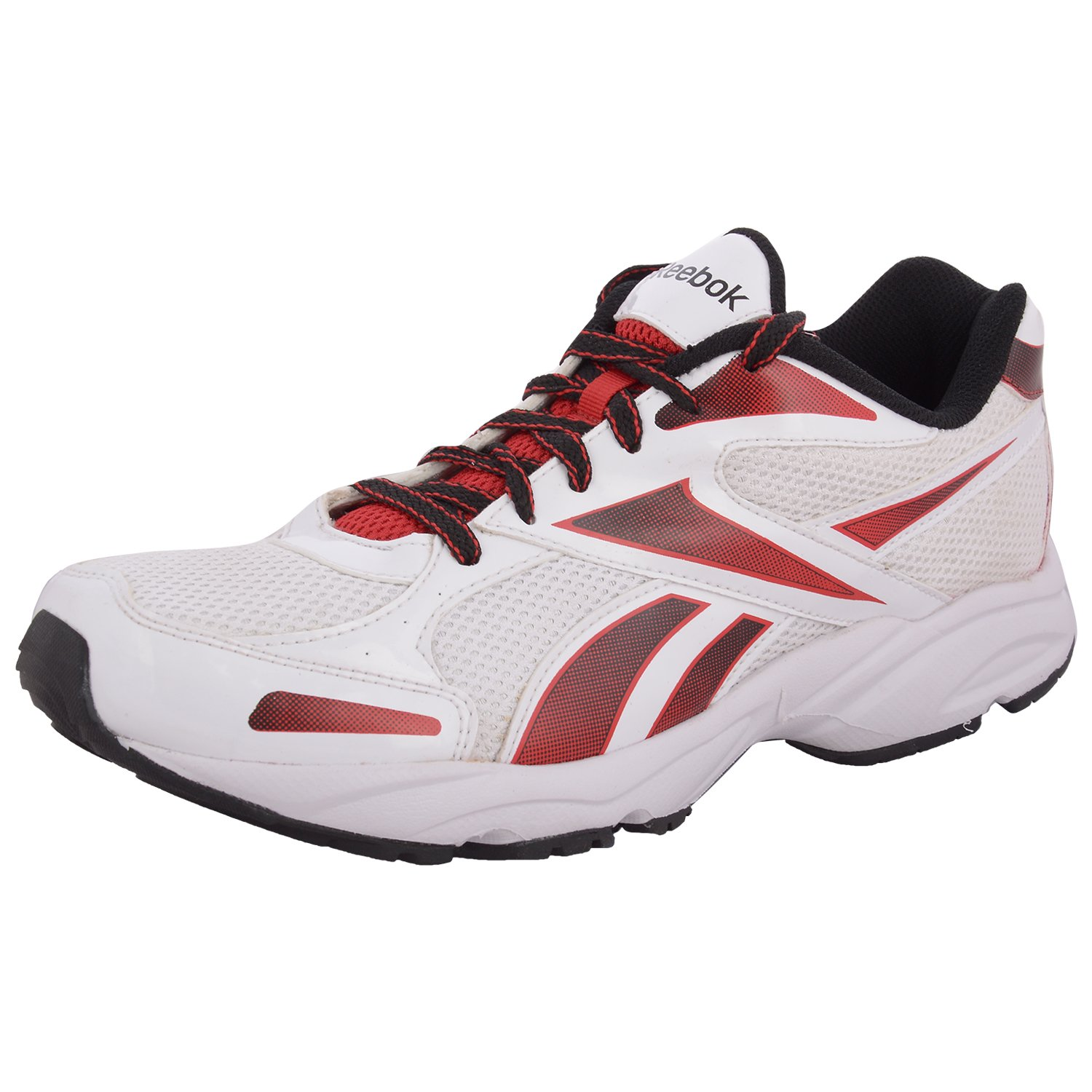 0533be9c60a68 Reebok Men s United Runner IV LP White red Black Mesh Running Shoes - 11  UK  Buy Online at Low Prices in India - Amazon.in