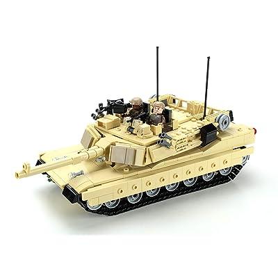 Battle Brick Ultra M1a2 Abrams Main Battle Tank Custom Set: Toys & Games