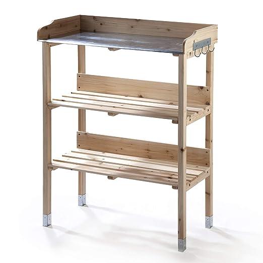 Macetero mesa con galvanizado - Fregadero y perchero: Amazon ...