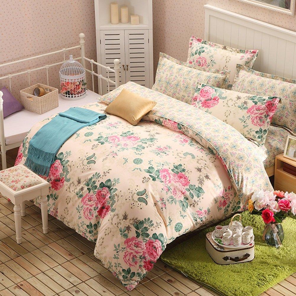 寝具、寮用品、4ピース綿、綿布カバーシート ( 色 : #12 , サイズ さいず : 1.5m bed ) B078GHSN3B#12 1.5m bed