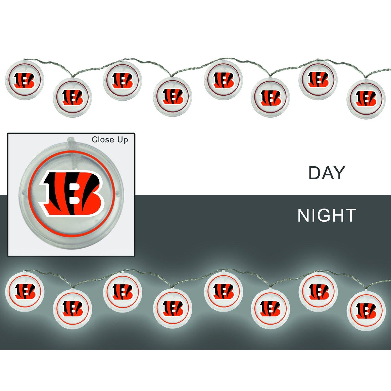 Team Sports America 2LA3806SL Cincinnati Bengals String Lights