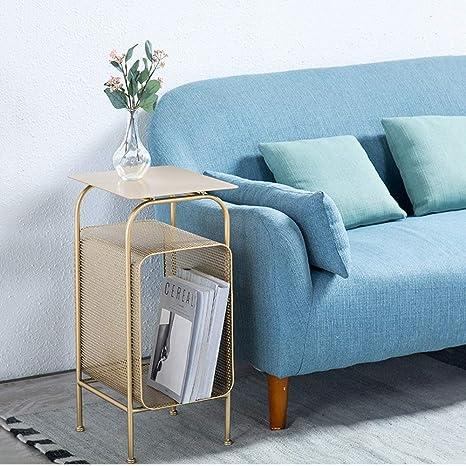 Amazon.com: Mesa auxiliar auxiliar de hierro para sofá/sofa ...