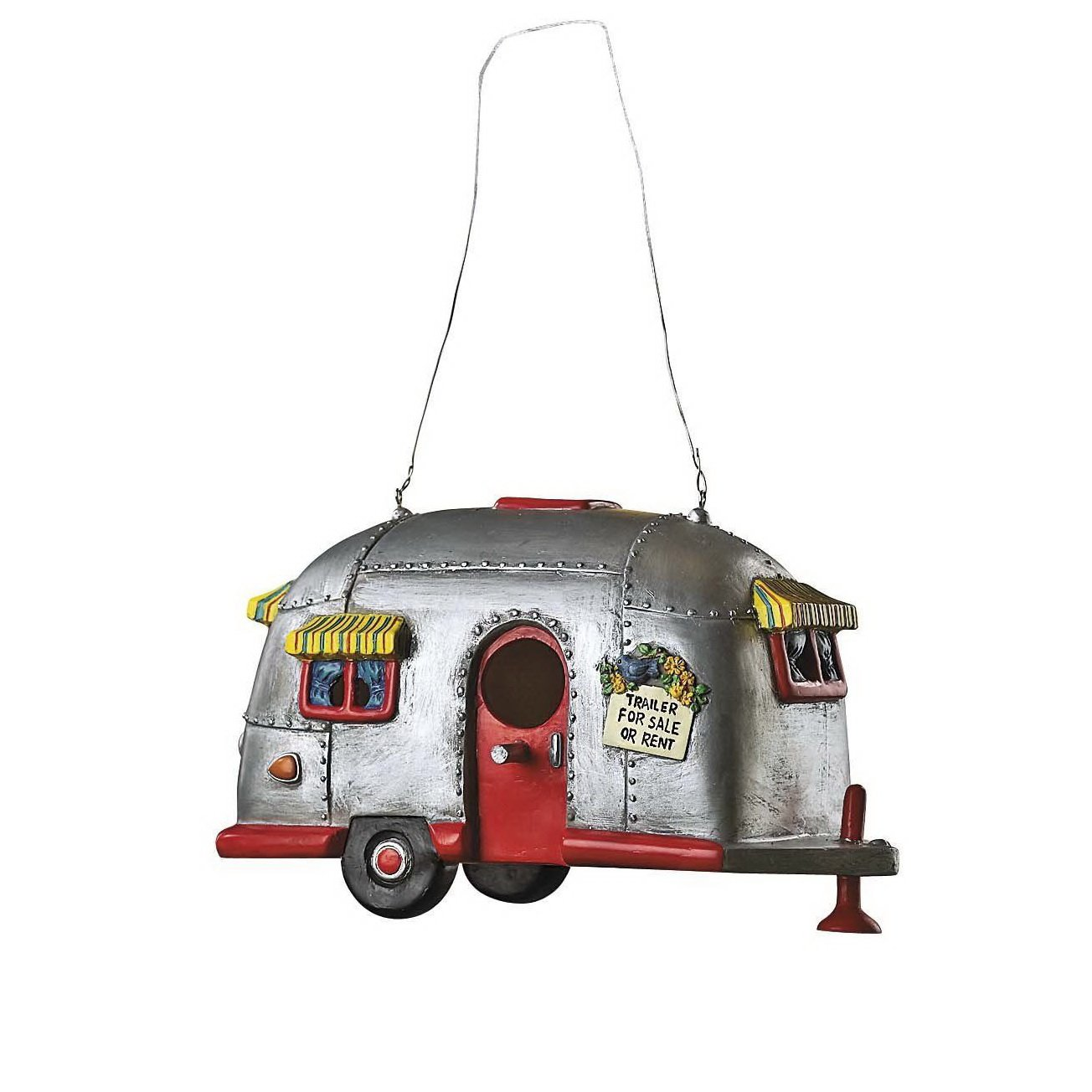Amazon.com : Camper Birdhouse Trailer Bird House Airstream Style RV ...