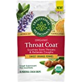 Traditional Medicinals Throat Coat Organic Cough Drops, Sweet Orange Fennel with Menthol, Soothes Sore Throats & Relieves Cou