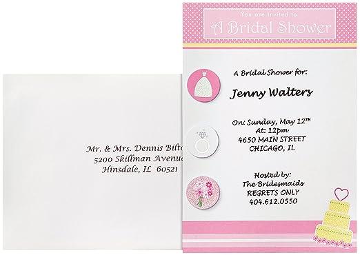 45d401222e15 Amazon.com  Wilton Bridal Shower Fun Invitations  Arts