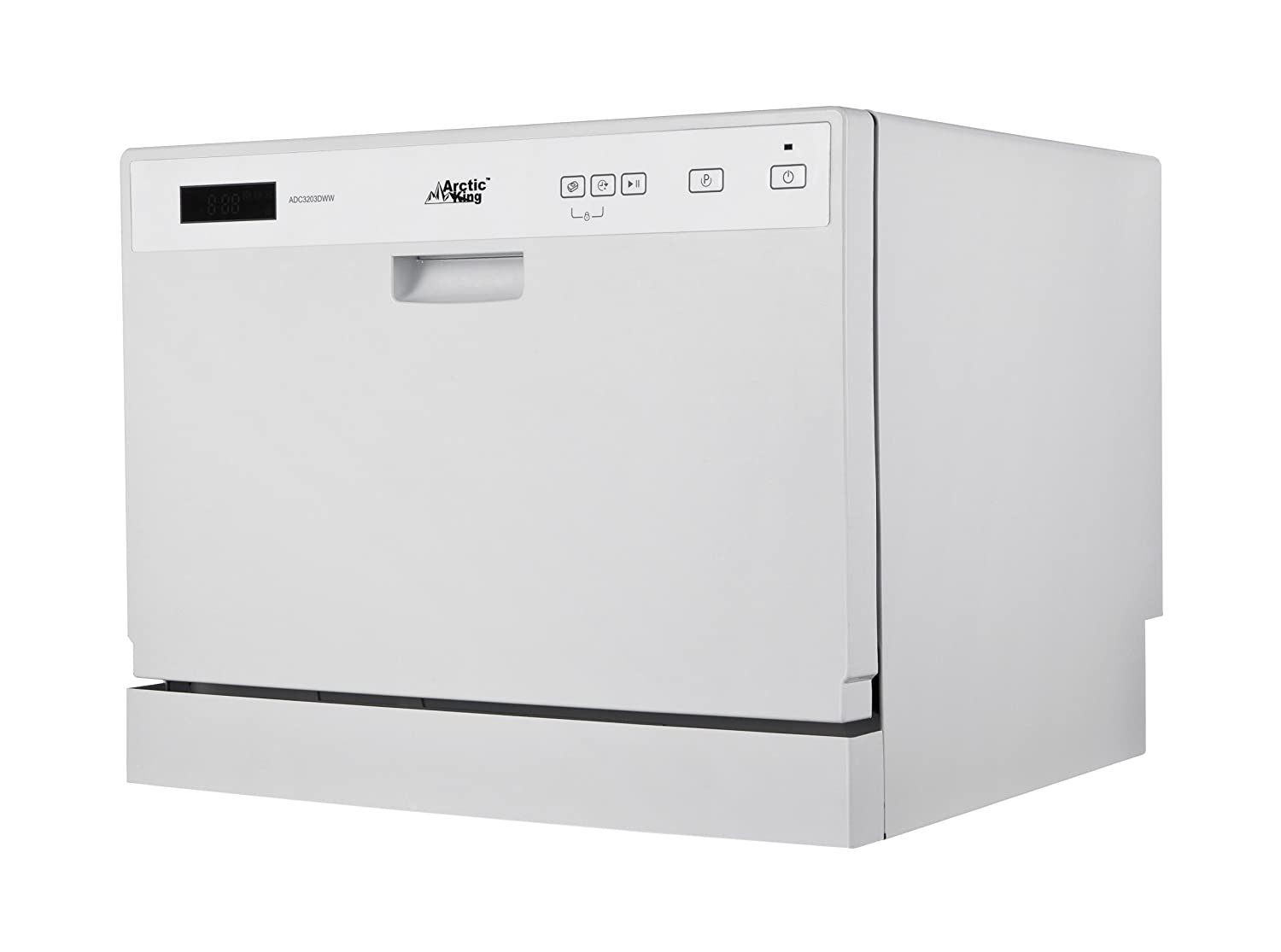 midea Arctic King ADC3203D Countertop Dishwasher, White
