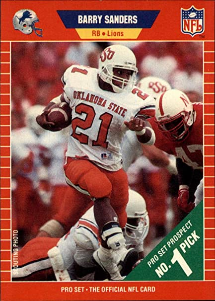 1989 Pro Set 494 Barry Sanders Rookie Card Nm At Amazons