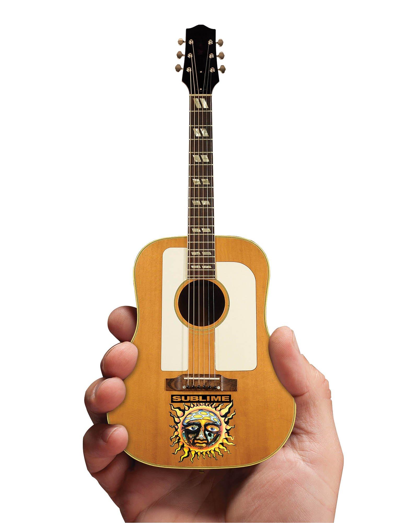 Iconic Concepts 2M-S09-5007 Sublime Acoustic Mini Guitar Replica Small Sun Face & Logo