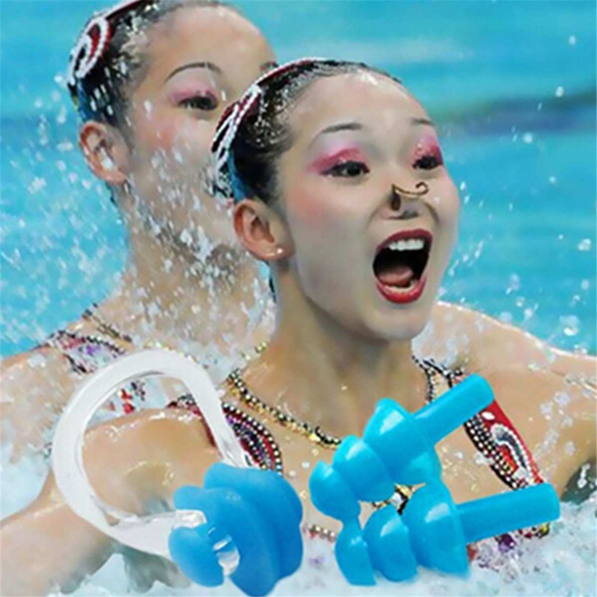 6 Sets Waterproof Silica Gel Swimming Earplugs and Nose Clip Plugs and Nose Clip Swimming Silicone ¡­