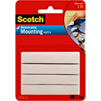 Scotch Mounting Putty, Removable, 2 oz, White (860)