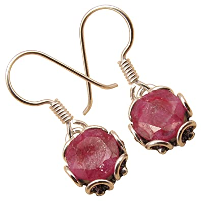 7b086c7e1 Image Unavailable. Image not available for. Color: 925 Sterling Silver  Plated Red RUBY ...