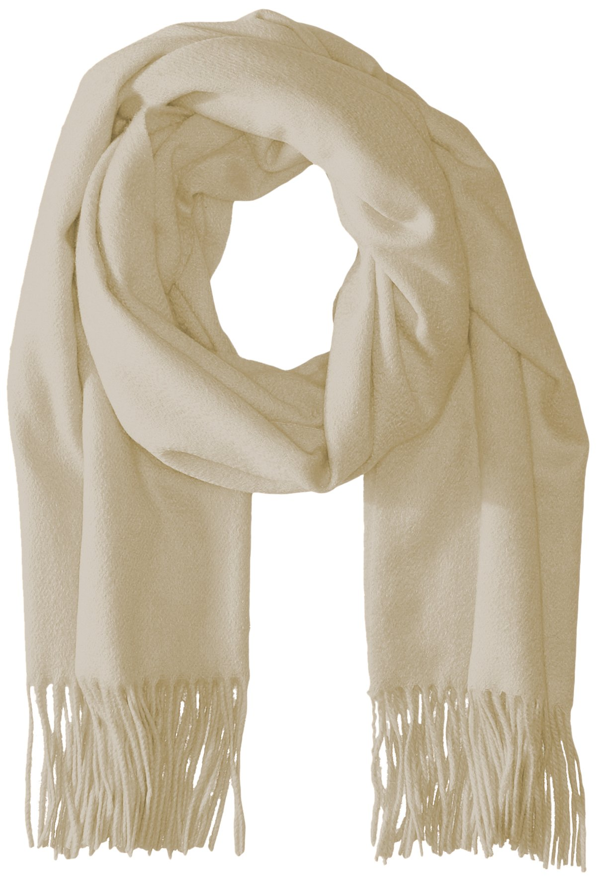 Sofia Cashmere Women's 100 Percent Cashmere Fringed Stole Scarf, Ivory, One Size by Sofia Cashmere