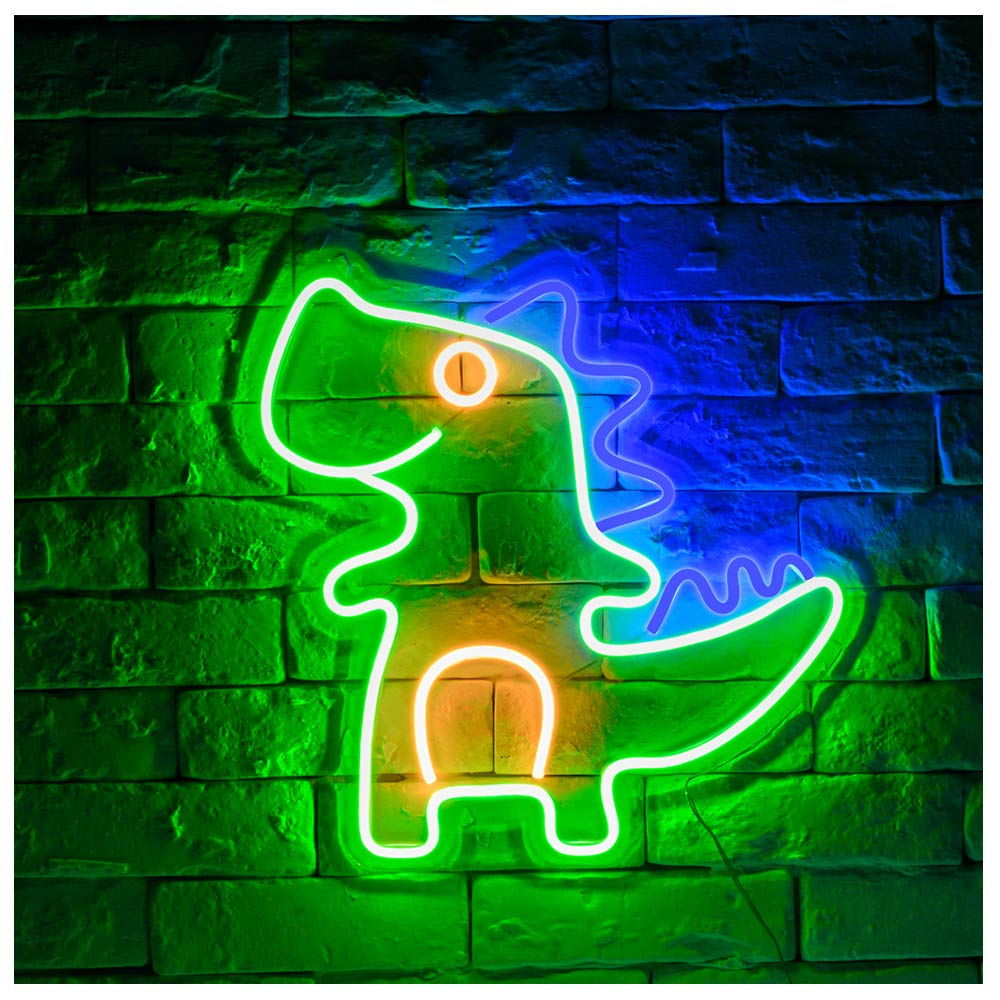 Dinosaur LED Neon Sign Lights Art Wall Decorative Sign Lights Night Light Holiday Birthday Party Supply Kids Room Home Decor